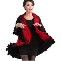 шерстяная женская красная кофта