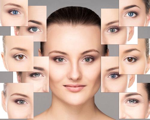 изменить цвет глаз с помощью теней для век