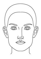 продолговатое лицо